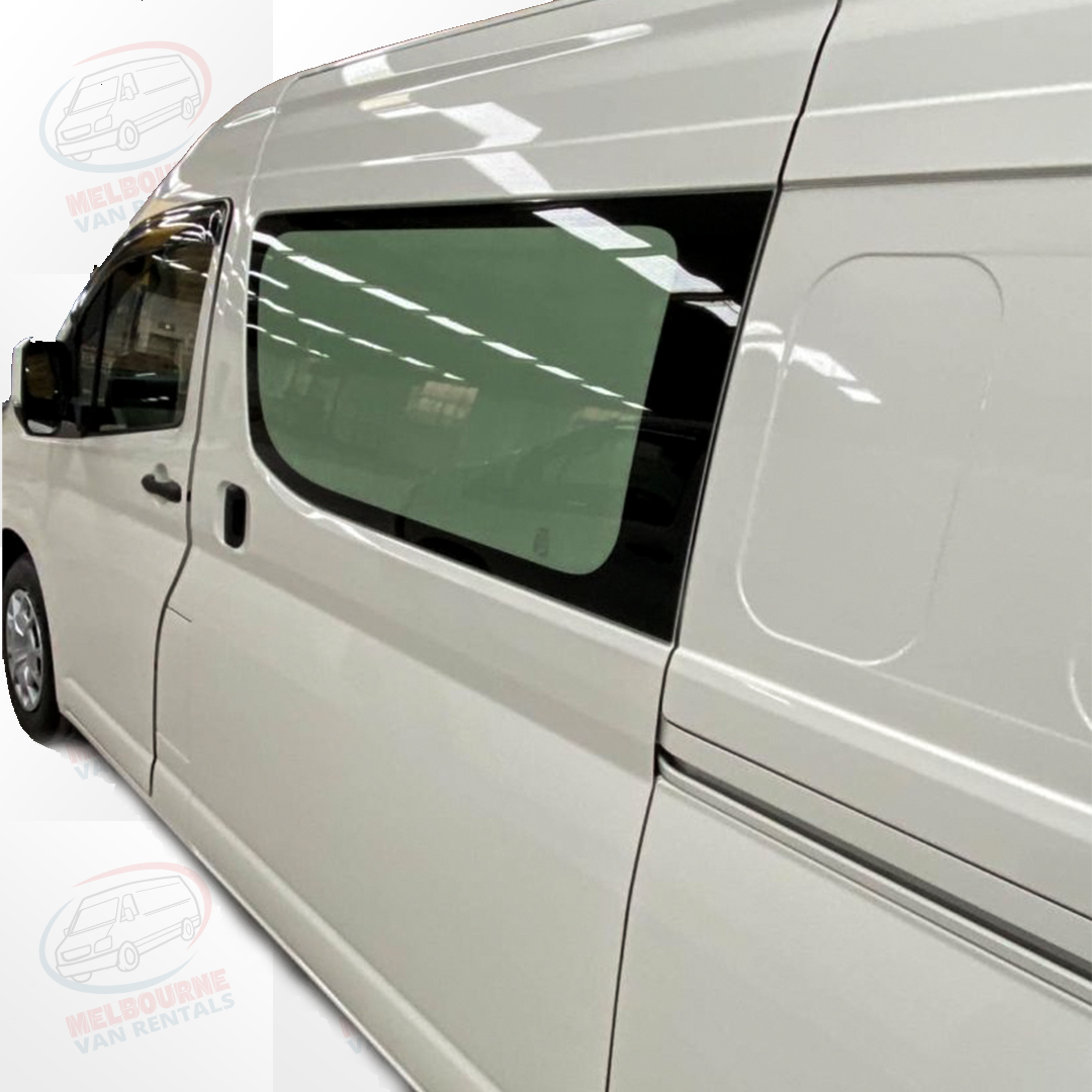 BRAND NEW TOYOTA HIACE SLWB WITH 2 SLIDING DOORS - Melbourne Cheapest Refrigerated Van Rental